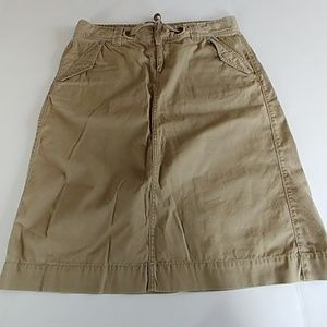 Banana Republic khaki drawstring skirt 💫4
